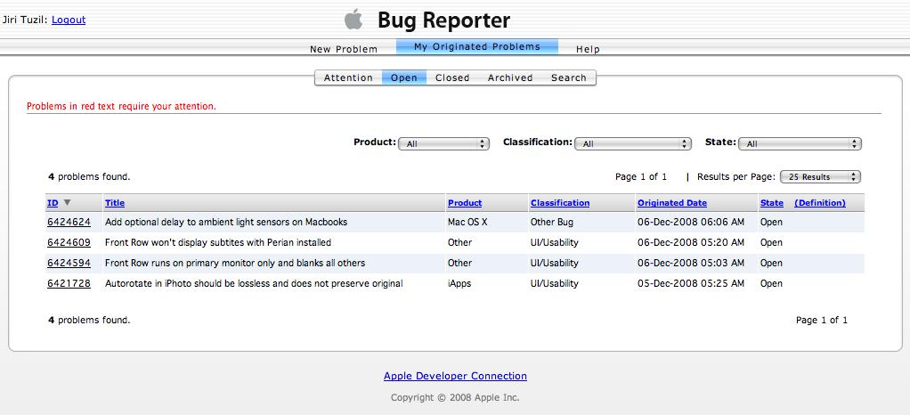 Apple Bug Reporter